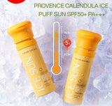 Nature Republic Provence Calendula Ice Puff Sun with SPF 50++ PA Sun Block.