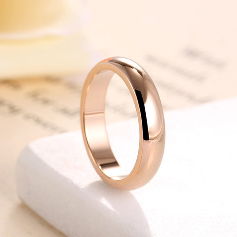 High quality 4mm Wholesale Simple Ring