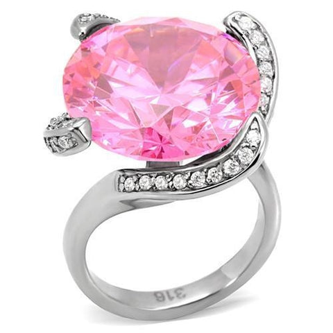 PINK GEMS Stainless Steel Ring