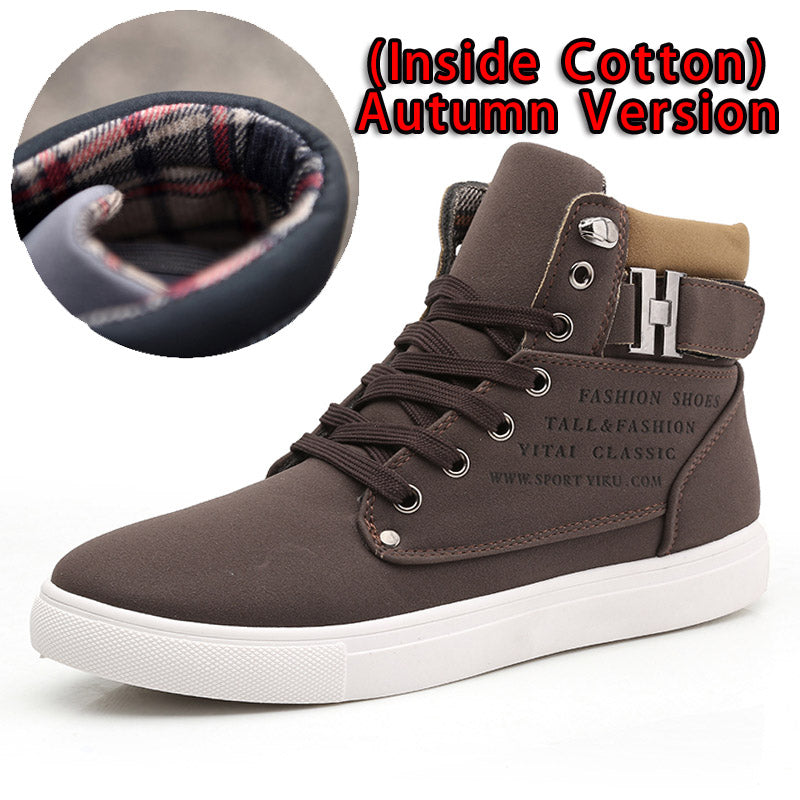615f7fc66c7 Men's Front Lace-Up Casual Ankle Boots