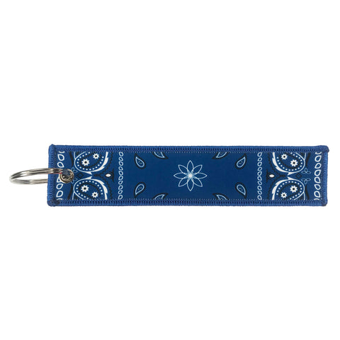 Blue Bandana Print Key Chain