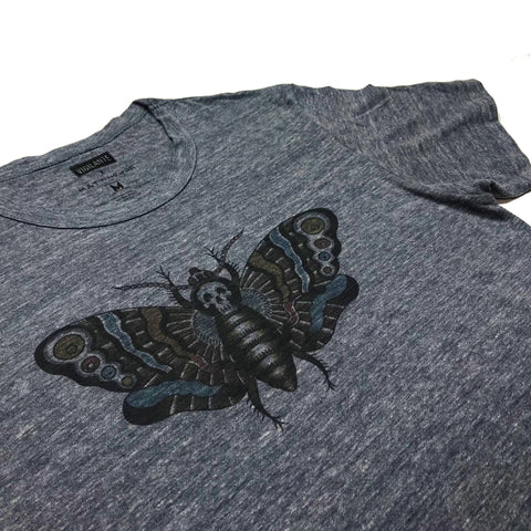 Matt Howse | Death Moth Vintage Tee - Heather Navy