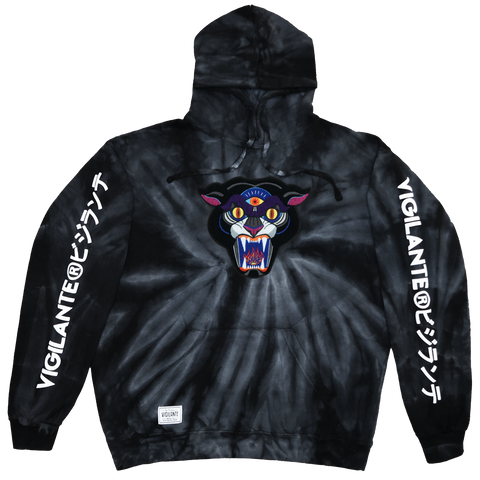 Panther Chenille Patch Hoodie Black