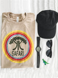 Safari Distressed Game Tee- Heather Safari Tan