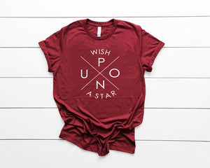 WISH Unsiex Tee- Heather Maroon