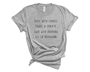 Neverland Unisex Tee- Athletic Heather PRE-ORDER