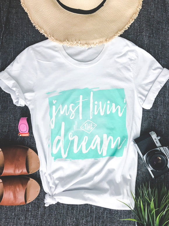 JUST LIVIN' THE DREAM TEE WITH HIDDEN MICKEY- Unisex