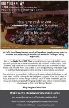 Together We Rise: Wake Tech Human Services Club Cares About Our Children in Foster Care