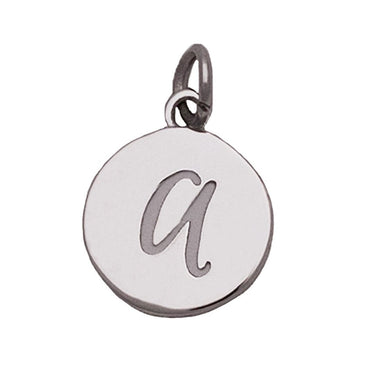 Silver Alphabet Charms