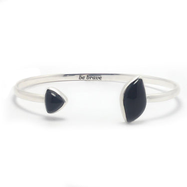 Be Brave Gemstone Cuff