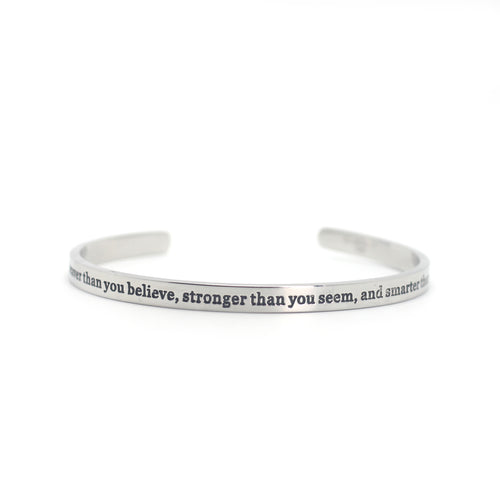 Encouragement Cuff - You are braver...