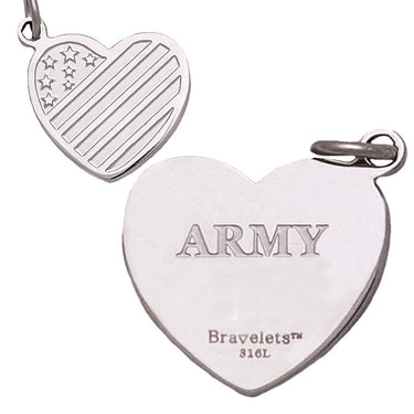 Military Heart Charms