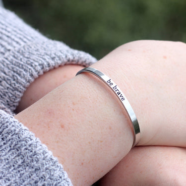 Encouragement Cuff - Be Brave