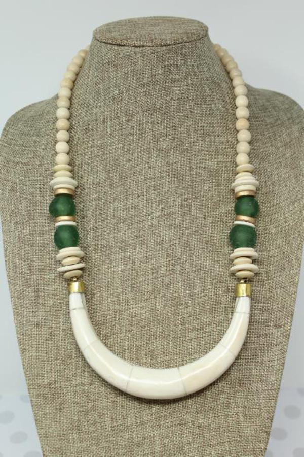 Southern Strung Piper Necklace - Green