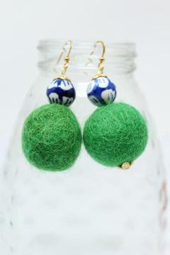 Southern Strung Emma Lou Earrings - Green
