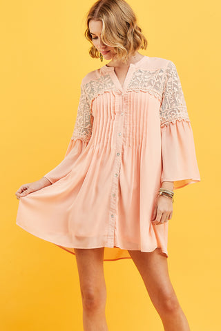 Apricot Shift Dress