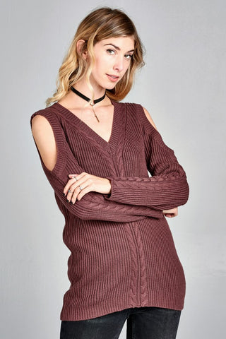 Plum Wine Sweater