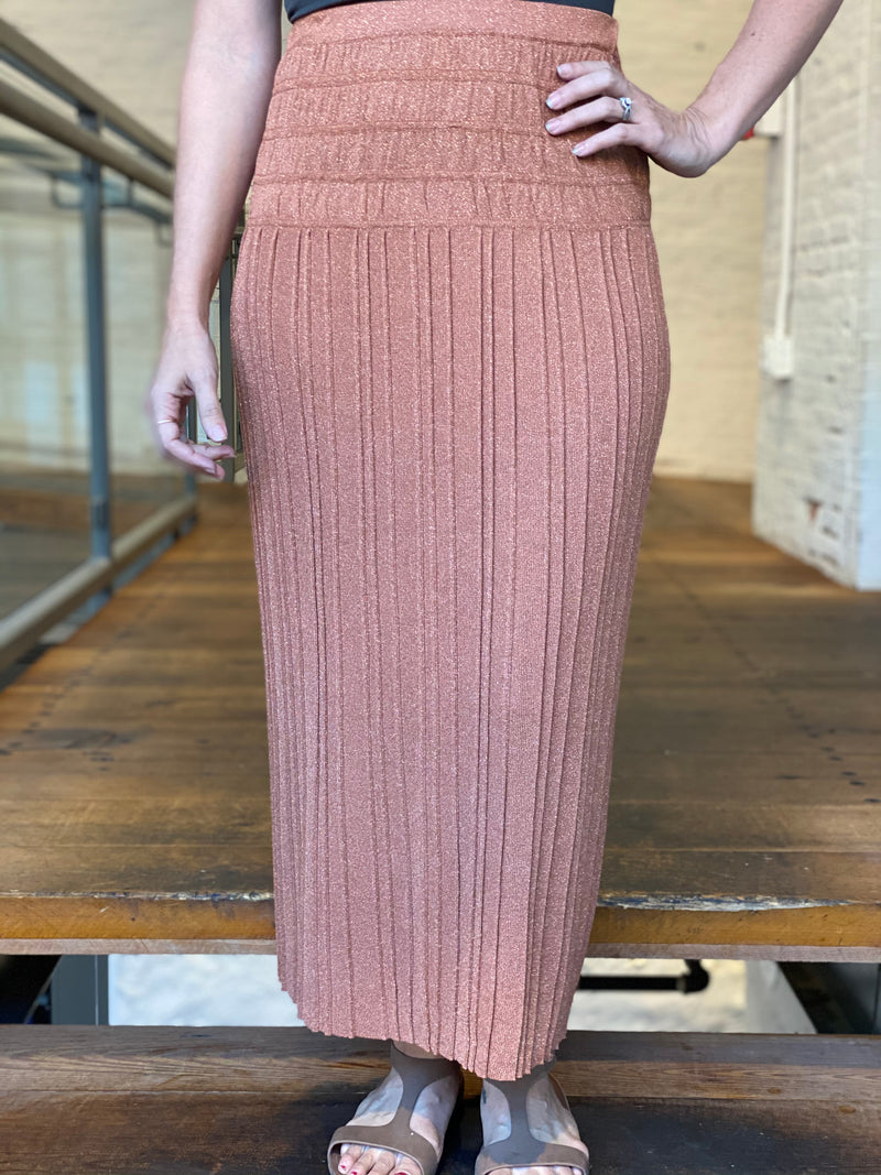 Trendy Fall Sweater Maxi Skirt