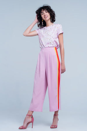 Let's Get Bold Pink Crop Pants