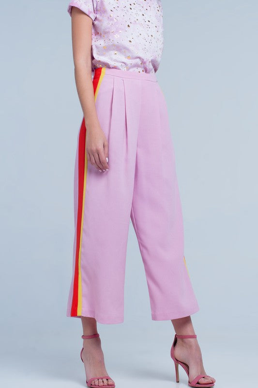 Final Sale  - Let's Get Bold Pink Crop Pants