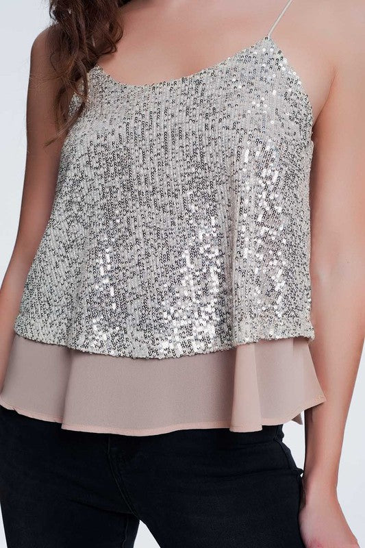 Sequin Party Shell Top