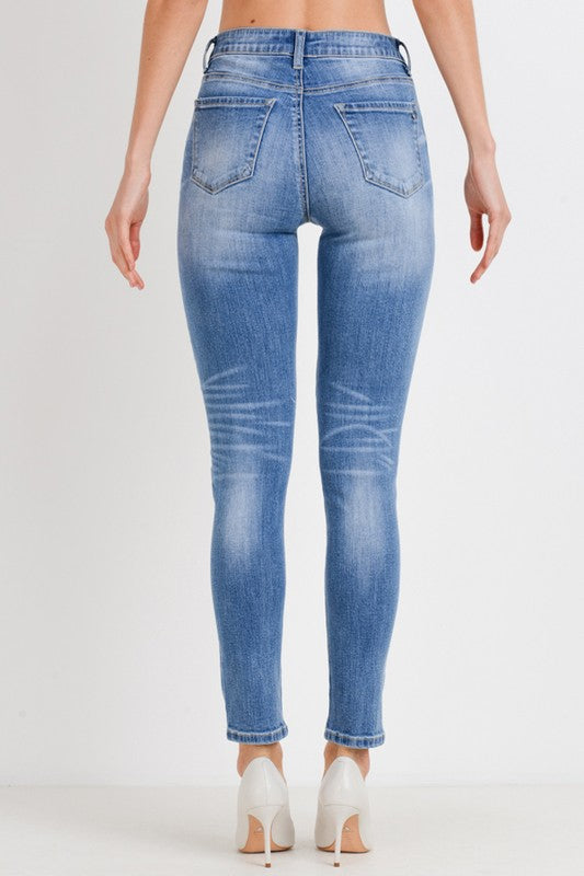 Heather Skinny Super Soft Ankle Jeans