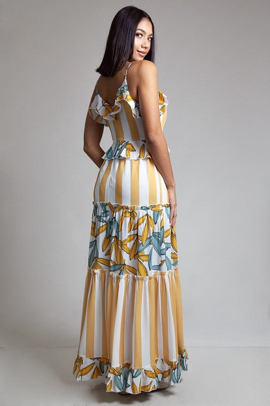 Yellow Strip Maxi Dress