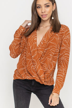 Final Sale - Sophisticated long sleeve blouse