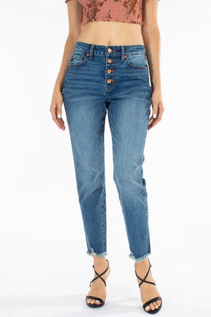 Nikki High Rise Four Button Jeans