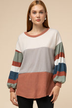 Colorful Soft Strip Sweater