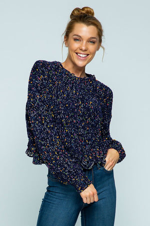 Navy Confetti Sweater