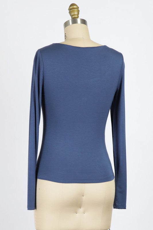 Rayon Modal Jersey Knit Scoop Neck Top