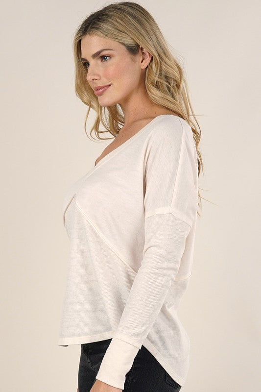 V Neck Criss Cross Back Lounge Thermal