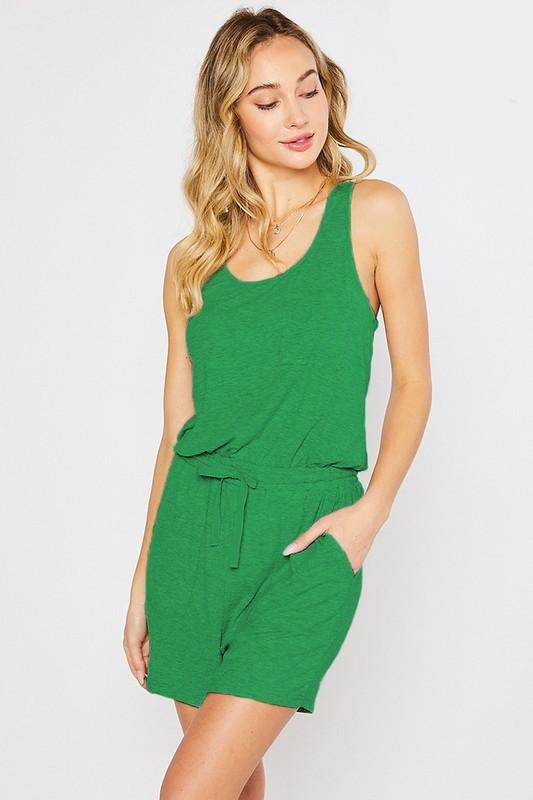 Final sale - RIB JERSEY SCOOP NECK ROMPER