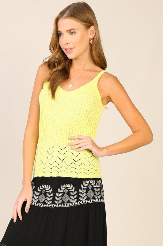 Lime Summer Vibes Sweater top