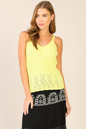 Final Sale - Lime Summer Vibes Sweater top