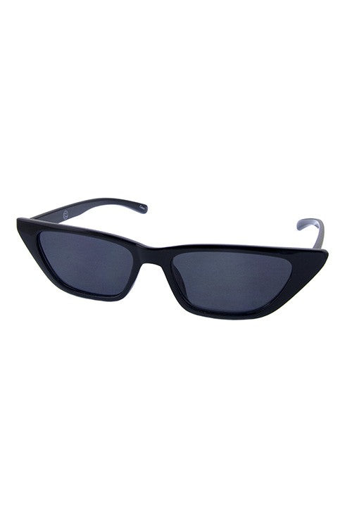 Womens cat eye slim pointed sunglasses