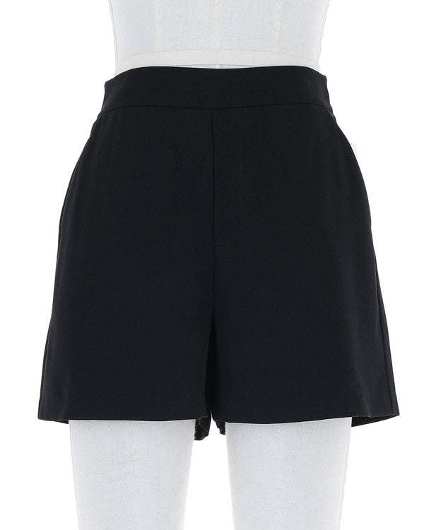 Final Sale - High Rise Shorts With Pockets