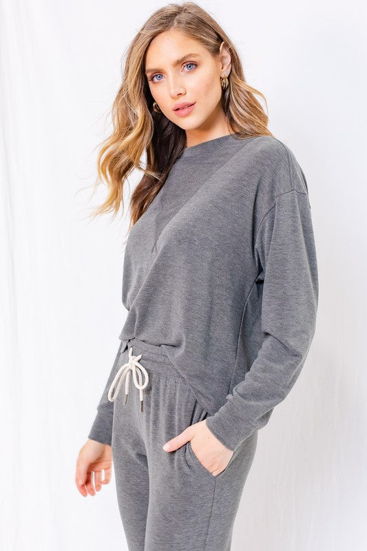 Terry Cloth Pullover Sweater