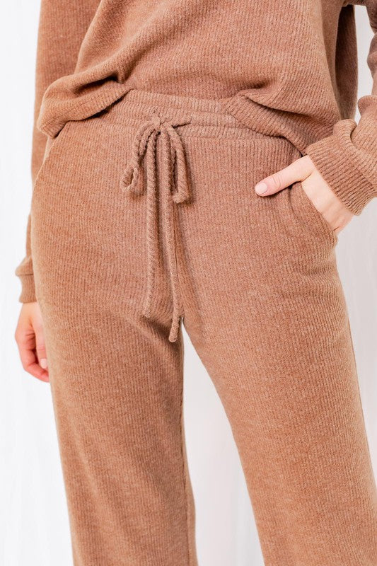 Camel Ribbed Sweats