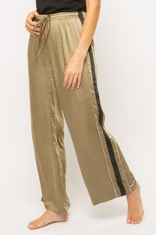 Fun Gold Wide Leg Pants