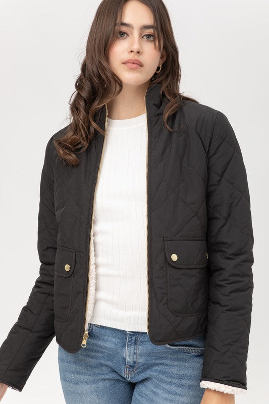 Pola Quilted Reversible Jacket