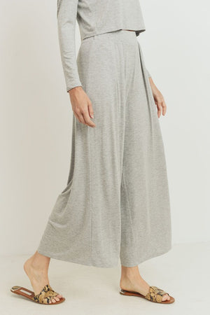Heather Gray Wide Leg Pants