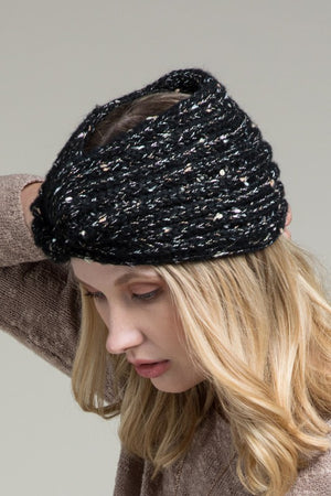 Boucle Knit Knot Head Wrap