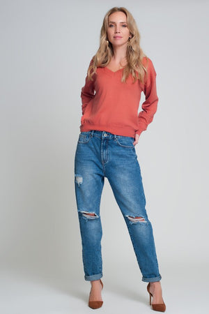 High Rise Relax Fit Mom Jeans