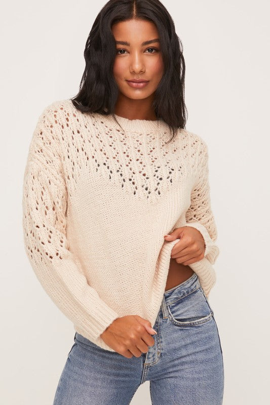 Crewneck Sweater Knit Top