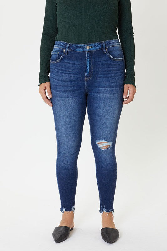 Curvy Girl - Dark Wash High Rise Jeans