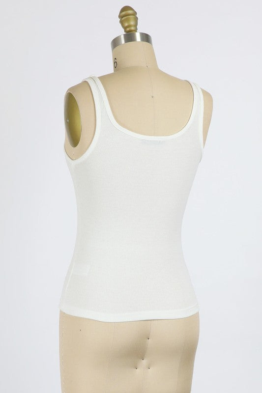 Fine Ribbed Jersey Tank