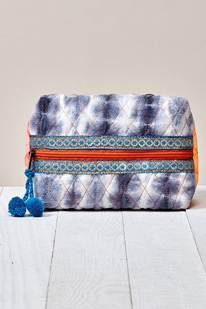 Quilted Tie Dye Makeup Pouch