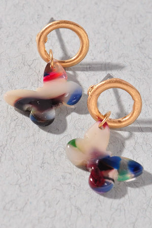 Multi color Butterfly Earrings